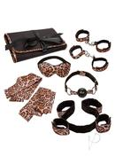 Unleashed Surrender Kink Set (8 Pieces) - Animal Print